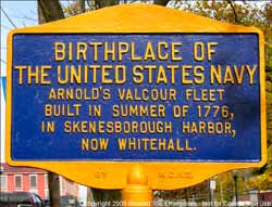Birthplace of the United States Navy Historical Sign
