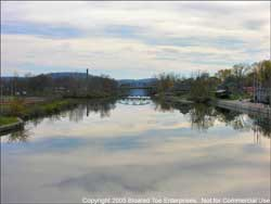 View of Champlain Canal Looking South